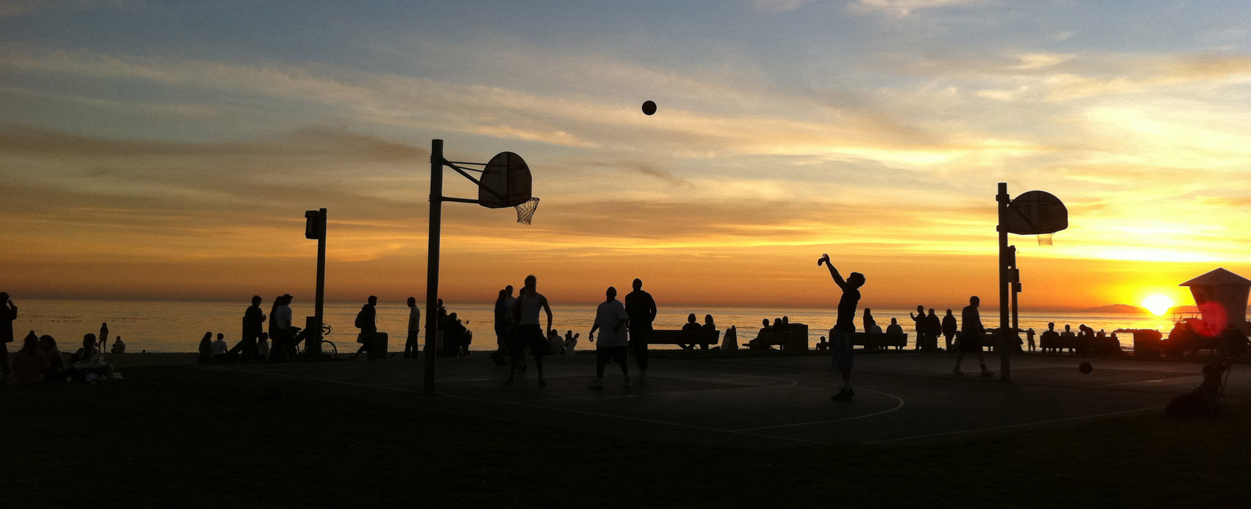BasketBall at Sunset - laguna Beach